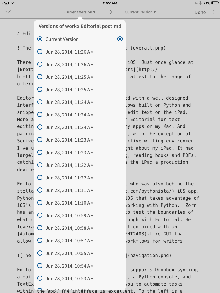 Editorial is a Powerful, Flexible iOS App for Text Editing | Jason A